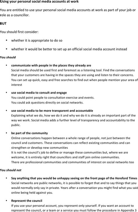 company social media policy template corporate social media policy template for free