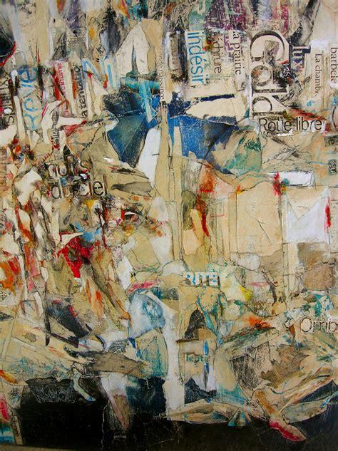 Collage Papier Sur Bois by 167 Gold 167 Collage Sur Bois Papier Gouache Caf 233 Th 233