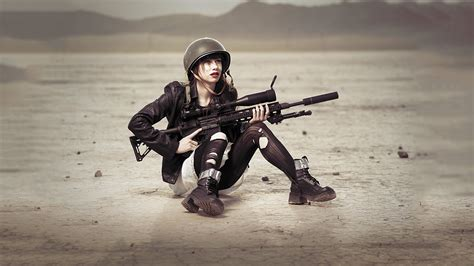 wallpaper girl military military meh ro
