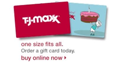 Tj Maxx Gift Card Online - 78 best gift cards images on pinterest