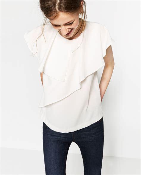 Asymmetrical Zara by Image 2 Of Blouse With Asymmetric Frills From Zara