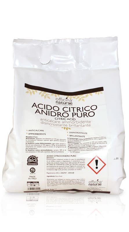 Utilizzo Acido Citrico by Acido Citrico Anidro Puro Officina Naturae