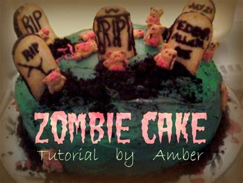 zombie cake tutorial blue eyed night owl amber s zombie cake tutorial