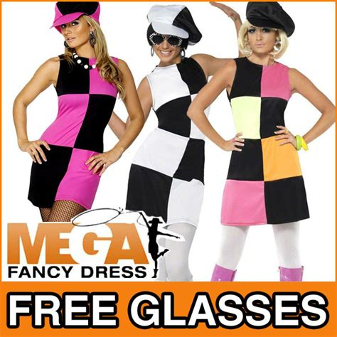swinging sixties seventies swinging 60s 70s sixties ladies fancy dress costume outfit