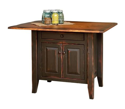 primitive kitchen island small distressed farmhouse