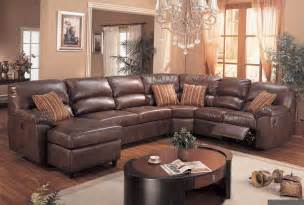 brown leather sectional sofa with recliners plushemisphere