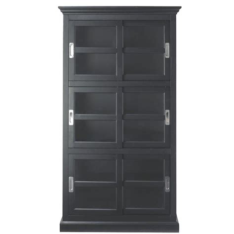 black bookcases with glass doors home decorators collection black glass door