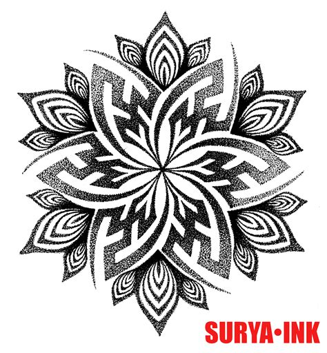tattoo design swastika mandala surya ink tribales