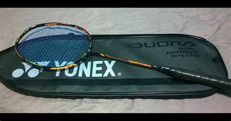 Woyo Raket Badminton Yonex Duora 10 Green And Orange Diskonn of badminton things badminton racket review yonex duora 10