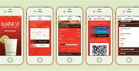 design restaurant app liveswanky on your phone swankys taco shop memphis mobile