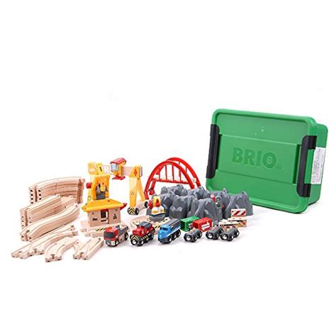 brio deluxe railway brio cargo railway deluxe set building blocks