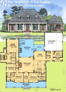 House Plans For Entertaining Architectural Designs 4 Bed Acadian House Plan Has Generous Outdoor Entertaining Space And
