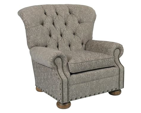 Fontaine Wingback Chair by Furniture Spencer Traditional Button Tufted Chair