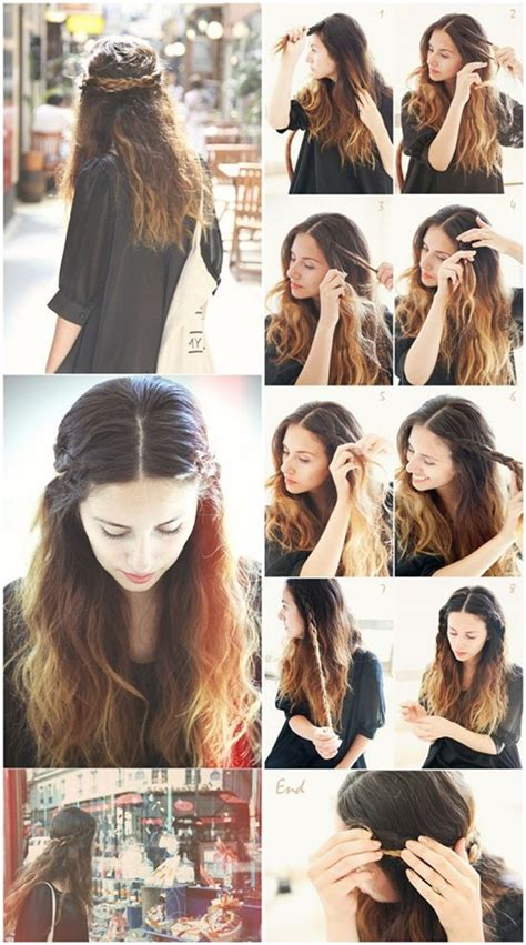 cute hairstyles clip extensions 12 pretty braided crown hairstyle tutorials and ideas
