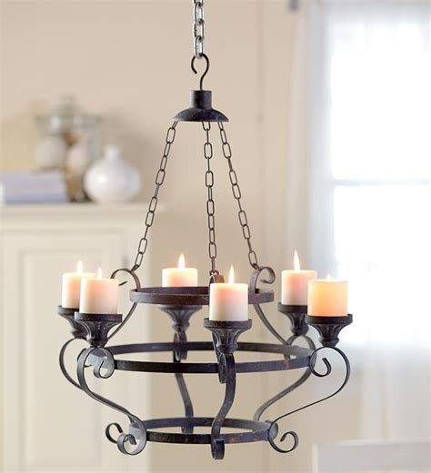 Pillar Candle Chandeliers Electric Pillar Candle Chandelier Light Fixtures Design Ideas