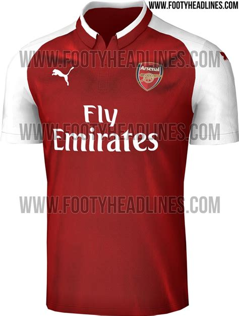 arsenal jersey 17 18 arsenal 17 18 home kit leaked footy headlines