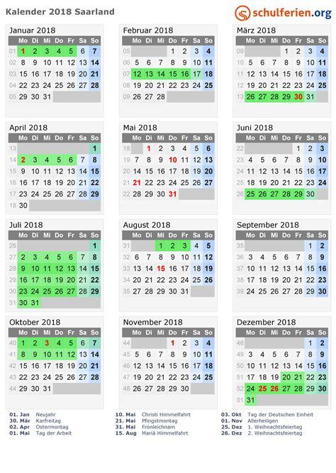 Schulferien Org Kalender 2018 Kalender 2018 Ferien Saarland Feiertage