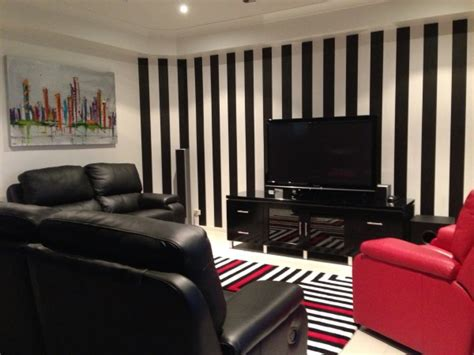 black and white striped wall striped wallpaper fits in with any style