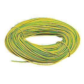 pvc sleeving 3mm x 100m green yellow pvc tubing