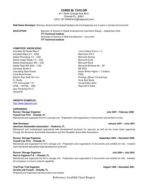 Resume Exles References Upon Request references available upon request on resume resume