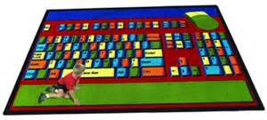 educational floormats area rugs keyboard connection