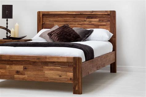 chester wooden country farmhouse bed frame rustic java