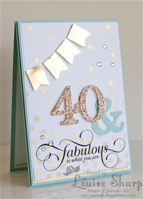 Handmade 40th Birthday Card - 25 best ideas about 40th birthday cards on 40