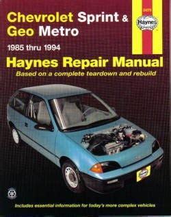 where to buy car manuals 1994 geo metro spare parts catalogs daves car 1994 geo metro specs photos modification info at cardomain