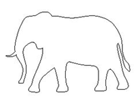 printable elephant shapes bull pattern use the printable outline for crafts