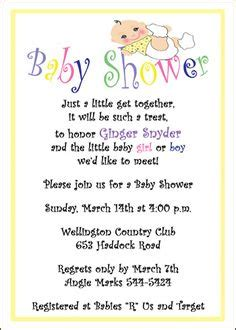 Baby Shower Verses by 1000 Images About Baby Shower Invite Wording On