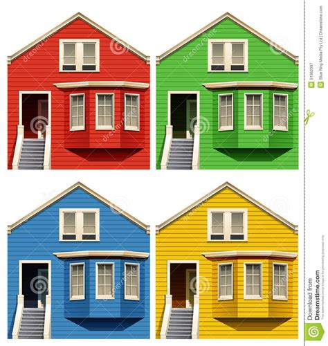 different houses houses stock vector image 51962397