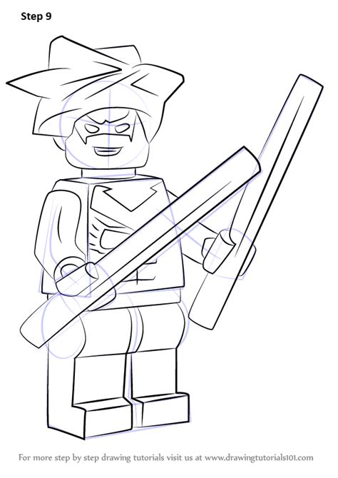 lego nightwing tutorial learn how to draw lego nightwing lego step by step