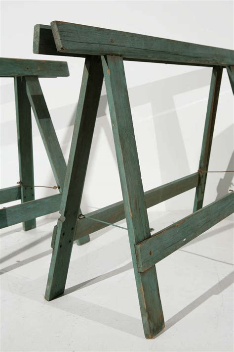 Sawhorse Worktable 1940s Industrial Sawhorse Work Table Legs At 1stdibs