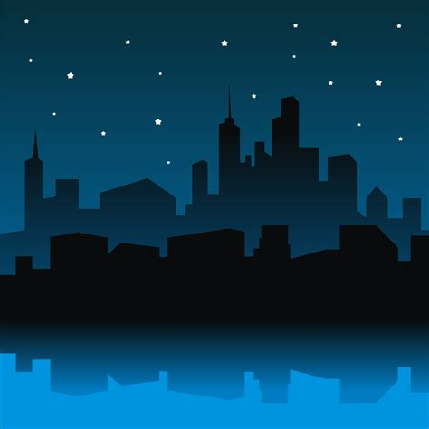Adobe House vector for free use city night