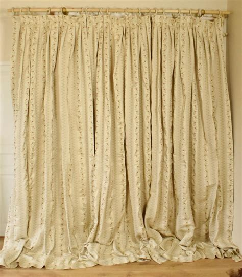 very long curtains fantastic set 3 very long heavy vintage french brocade