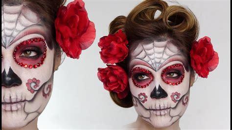 easy sugar skull day   dead makeup tutorial