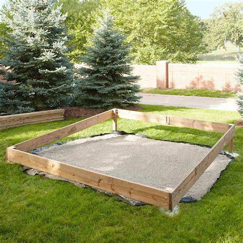 backyard platform deck assemble the perimeter frame of the platform deck water
