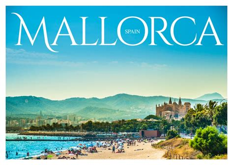 Greetings From Mallorca by Mallorca Spain Postcard Design Vacation Greetings