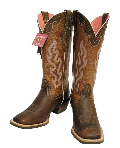 s ariat crossfire caliente weathered brown square