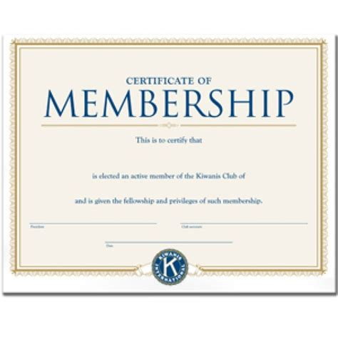 honorary membership certificate template membership certificate templates word excel sles