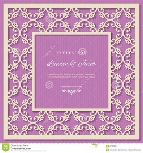 wedding details card template purple wedding invitation card template with laser cutting