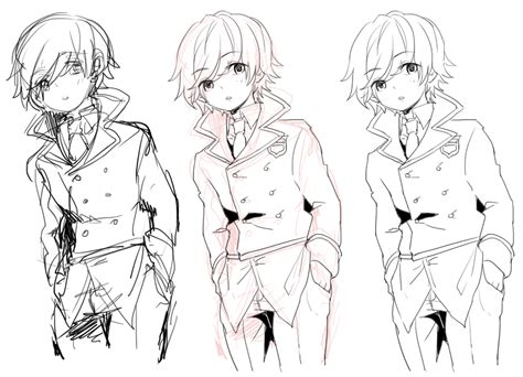 line drawing sketches oc sketch to lineart by bone kun