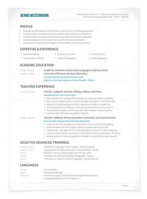 Ausfuhrlicher Lebenslauf Format Lebenslauf Englisch Cv Oder R 233 Sum 233 Unterschiede