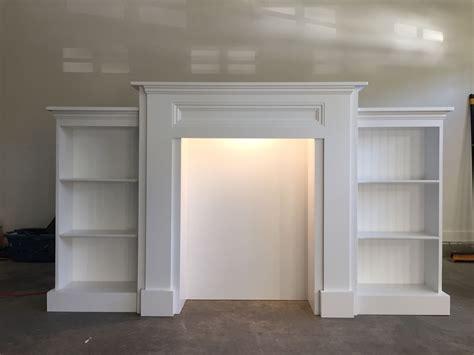 mimis faux mantle  bookshelves    home