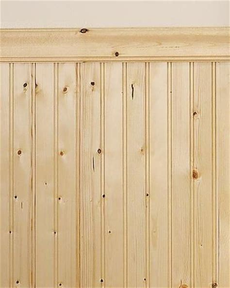 Wainscoting Panels Menards Mill Services Premium Bead Knotty Pine Wainscot