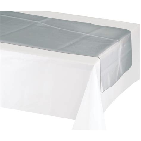 84 inch table runner metallic silver table runner 14 inches wide x 84 inches