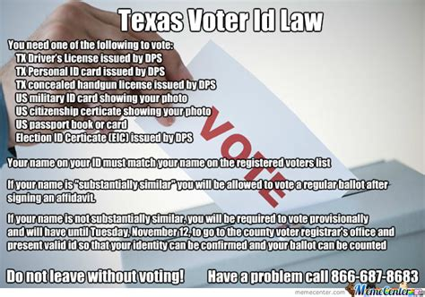 Texas Voter Id Law | voter id bing images