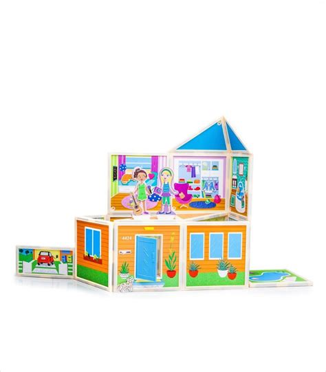magnetic doll house build and tell stories with the cutest magnetic dollhouse kits