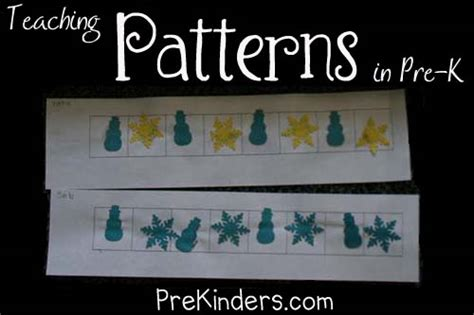 pattern activities pre k pre k teaching tips ideas prekinders party invitations ideas
