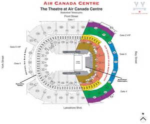 air canada center seat map seating map the air canada centre